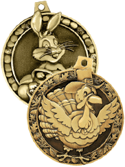 3D Diecast Medals Holiday