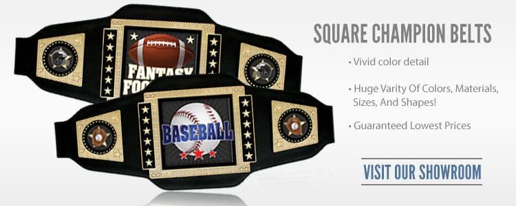 Square Champion Belts