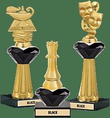 Crystalline Trophies Black