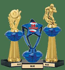 Crystalline Trophies Blue