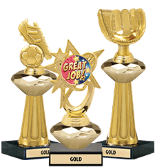 Crystalline Trophies Gold