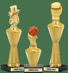 Crystalline Trophies Jumbo Gold
