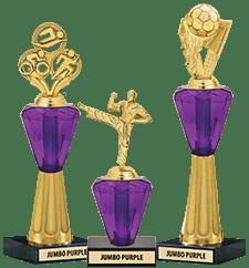 Crystalline Trophies Jumbo Purple