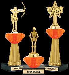 Crystalline Trophies Neon Orange