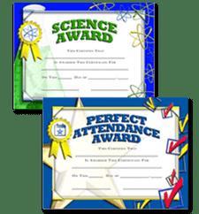 Scholastic Certificates
