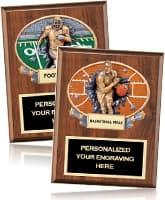 Sport Plaques Sculpted Plates